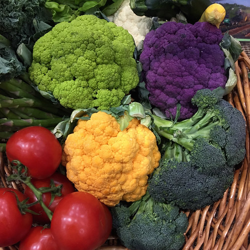 Mix of bright vegetables