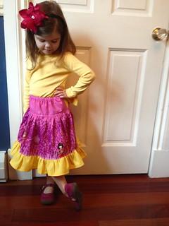 Cottage Mama twirl skirt -size 4