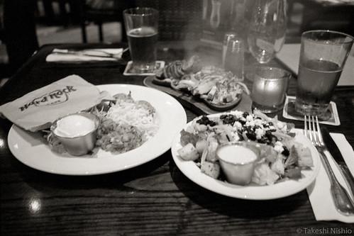 beef & chicken Fajitas w/salad