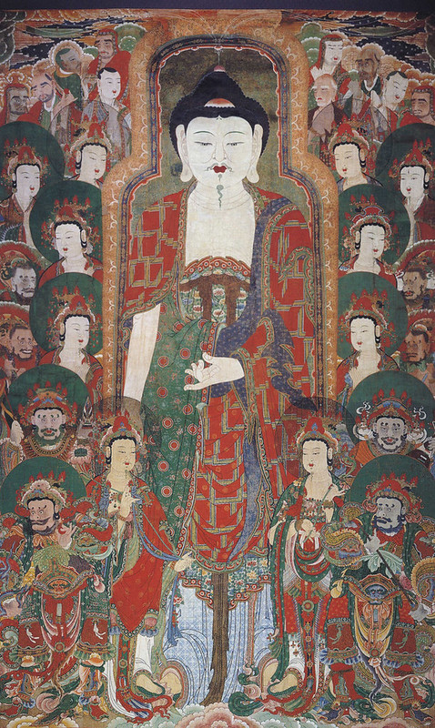 """Gwaebul Buddhist Hanging Scroll at Bukjangsa Temple"" _ Courtesy of National Museum of Korea. Photo from The Korea Times"