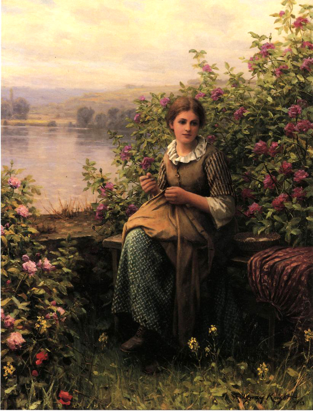 Mending by Daniel Ridgway Knight