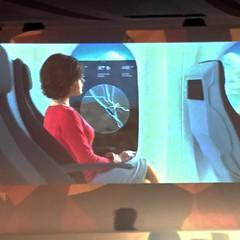Hyperloop > Bibop G. GRESTA présente les fenêtres en réalité augmentée des cabines: les écrans ultra-HD qui détectent les mouvements de la tête et des yeux pour présenter un paysage plus réaliste