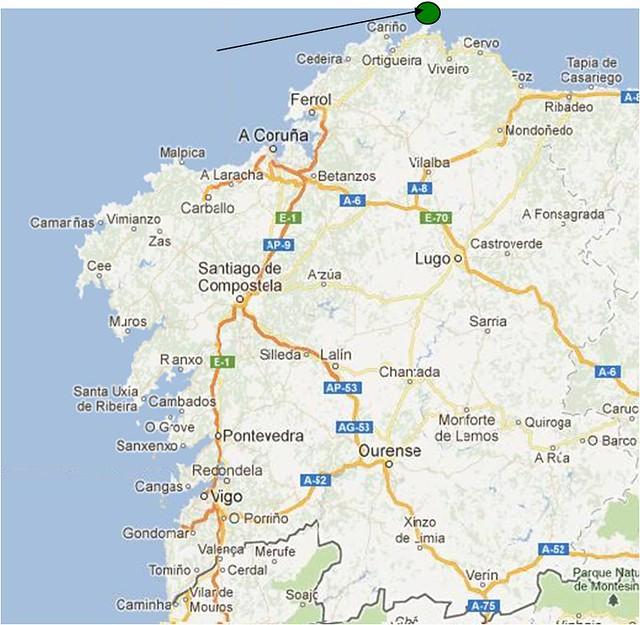 Estaca De Bares Mapa.Estaca De Bares Mapa Mapa