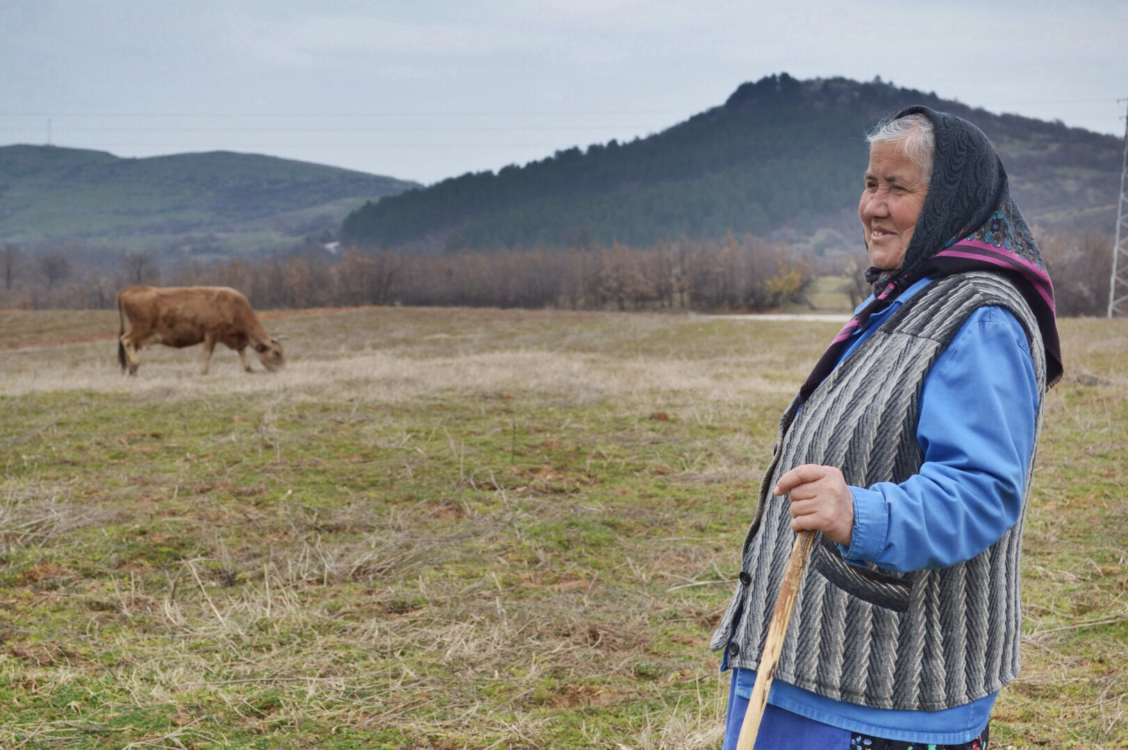 Local farmer in eastern Bulgaria mountains