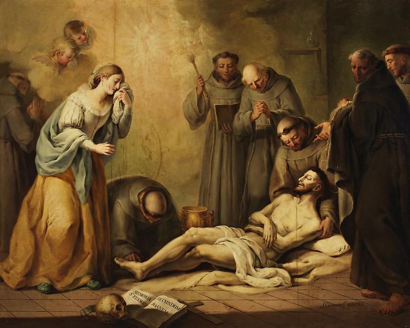 José Camarón Bonanat - Morte di S. Francesco (1789)