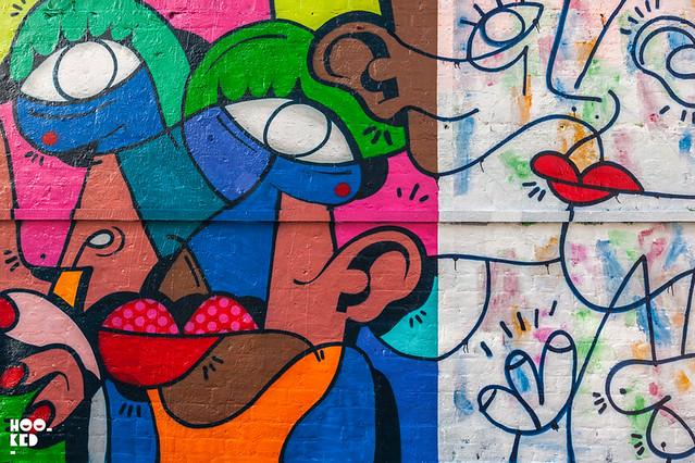 Italian Street Artist Hunto's Shoreditch Street Art Mural
