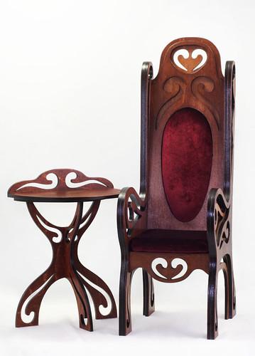 Takumi  chair model 05 & tea table m02