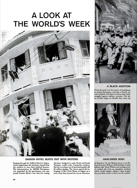 LIFE Magazine Aug 01, 1955 - Hình ảnh thế giới trong tuần - SAIGON HOTEL BUSTS OUT WITH RIOTERS