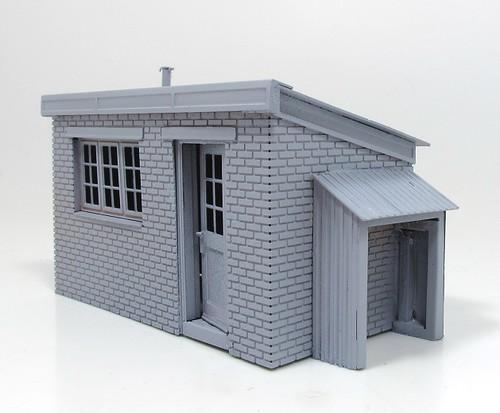 Etched hut primed