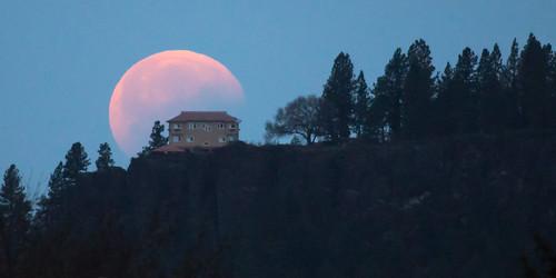 Partial Umbral Lunar Eclipse over Arbor Crest Winery.