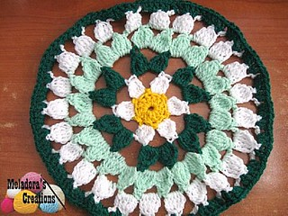 Spring Flower Doily Finished 400