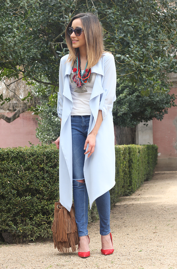 blue trench jeans zara fringe bag07