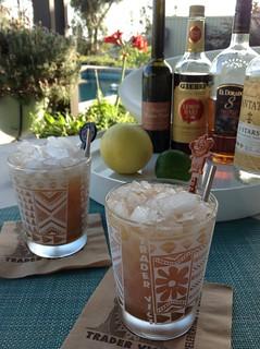 Navy Grog (Trader Vic via Dave Stolte) with Plantation 3 Stars, El Dorado 8 demerara rum, Lemon Hart 151 demerara rum, St Elizabeth allspice dram, grapefruit & lime juice #cocktail #cocktails #tiki #navygrogchallenge2015 #tradervic