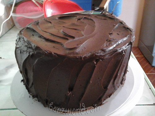 chocolate chiffon cake messy frosting