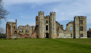 The ruins of Cowdray House, Midhurst