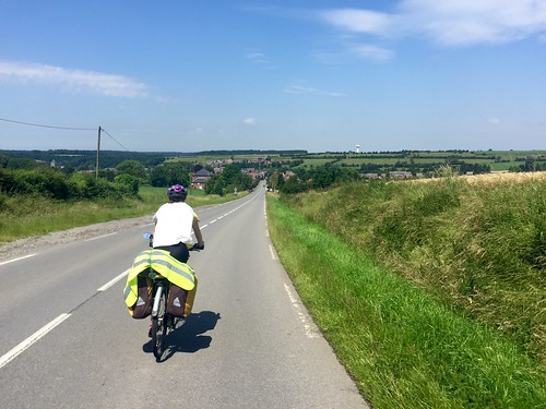 Wonderful sunny day cycling through the French countryside near Cousolre