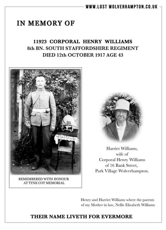 MEMORY CPL WILLIAMS