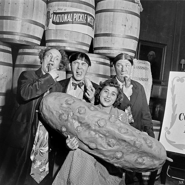 1949 ... 3 Stooges and a pickle!
