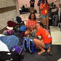 Up at 4:45 AM for #Gauntlet2016. @b_forehand and @h_forehand are heading to Daytona for the week with @newspring_church @newspringfuse