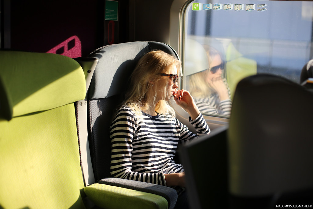 on the train... model off duty
