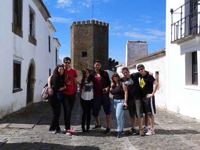 El grupo en Monsaraz (Alentejo, Portugal)