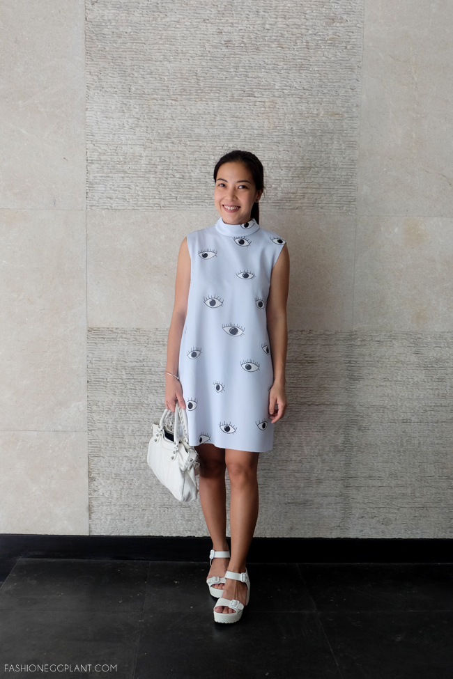 EYE RPINT DRESS STREET STYLE
