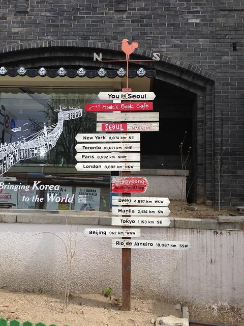Directional signs in Gwanghwamun
