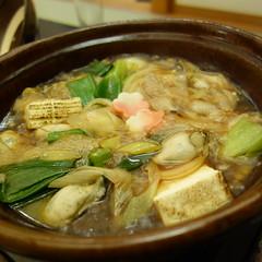 牡蠣のすき焼き