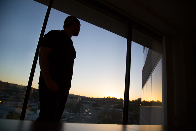 Sunset at the office