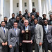 4-21-15 Richard Bland Men's Basketball Team, South Portico, State Capitol