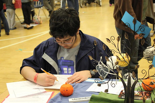 Maker Faire Nova - Drawing a Dial-O-Lantern Face