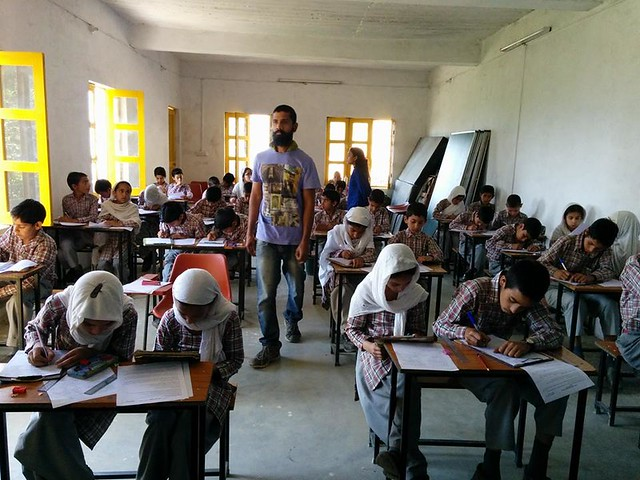Students appearing in their final examinations