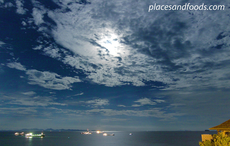 sri panwa night sea view wide shot