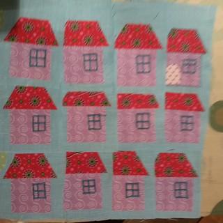 Teeny tiny house swap.  My block unfinished