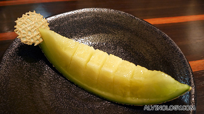 Japanese musk melon - so sweet you don't need to tamper with it