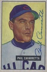 1951 Bowman - Phil Cavarretta #138 (First Baseman / Outfielder) (b: 19 Jul 1916 - d: 18 Dec 2010 at age 94) - Autographed Baseball Card (Chicago Cubs)