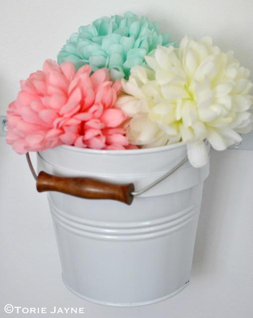 Bucket full of blooms