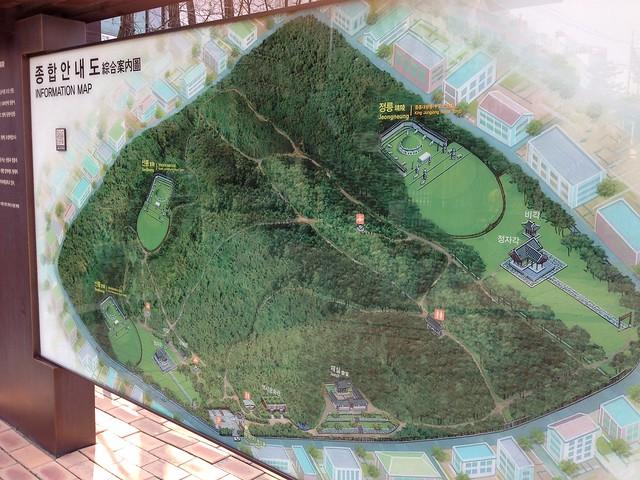 Map of the Seolleung & Jeongneung Royal Tombs site