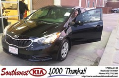 #HappyAnniversary to Michael Pyron on your 2014 #Kia #Forte from Mauricio Pena at Southwest KIA Rockwall!