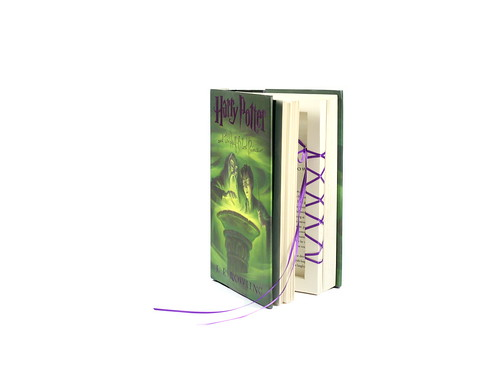 Harry Potter Ring Holder Book With Purple Ribbon - Handmade