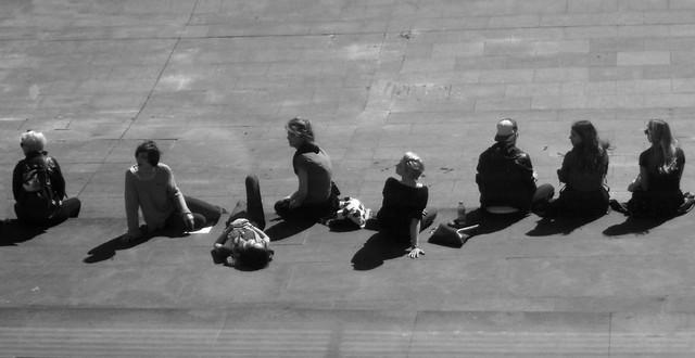 289 . silhouettes sunbathing