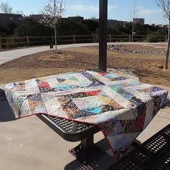 As a picnic table cover?
