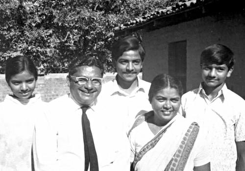 P. J. Malagar family, India, 1973