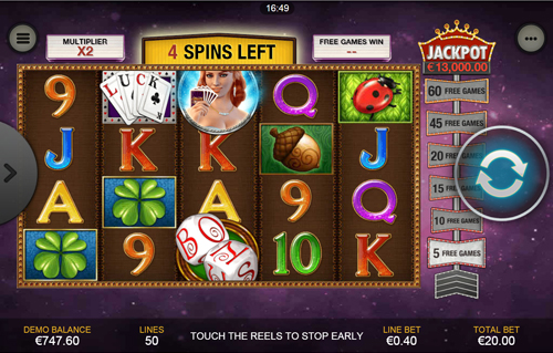 free Streak of Luck Mobile Free Spins