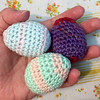 Crochet Easter Eggs Closeup