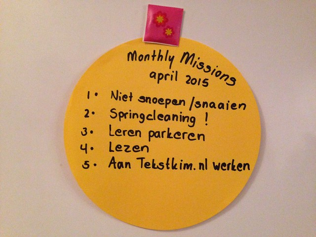 monthly missions - april 2015
