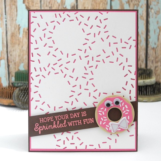 Sprinkled With Fun by Jennifer Ingle #mftstamps #bazzillbasics #simonsaysstamp #cards #cardchallenges #diy #pinkfreshstudio
