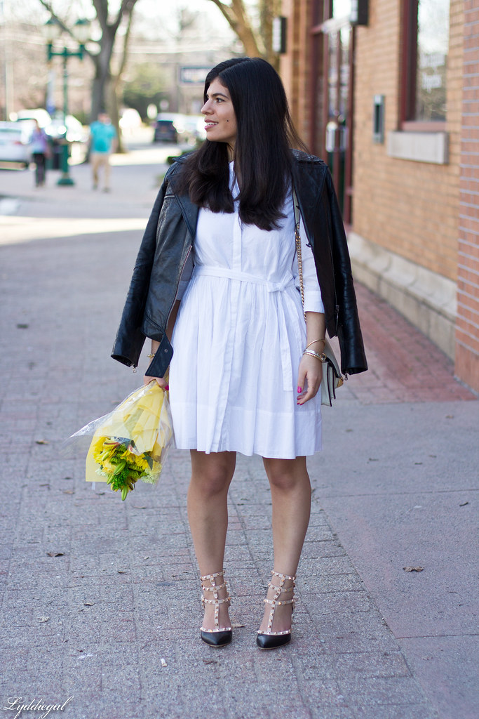 white dress, leather jacket, studded pumps-1.jpg