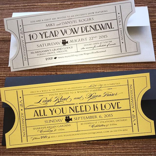 Hollywood Theme Vintage Tickets Wedding Invita Flickr