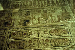 Ägypten 1999 (101) Assuan: Im Großen Tempel von Abu Simbel